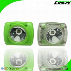 Rechargeable Cordless Miner's Cap Lamp with Battery Capacity Display 13000 Lux