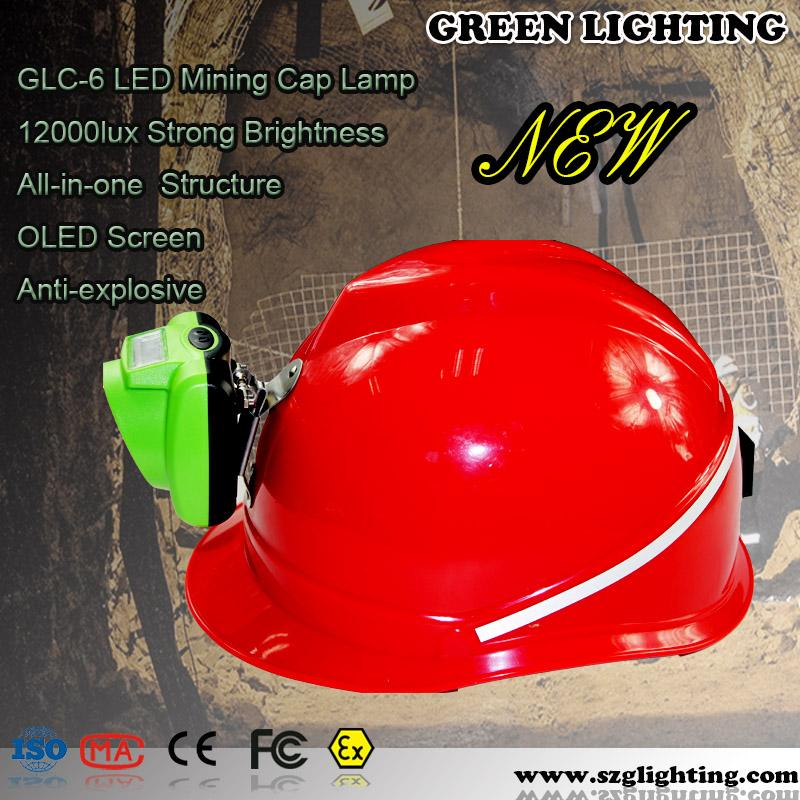 GLC-6 13000lux IP68 water-proof minners cap lamp with USB Charger 5