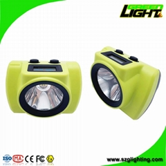 20000lux 5V 2A IP68 Rechargeable Mining Cap Lamp with OLED Screen