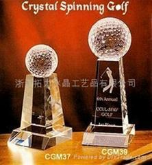 golf crystal awards