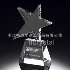 Crystal trophy crystal award