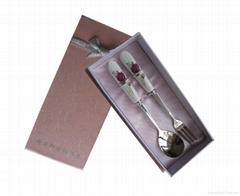 小号陶瓷勺叉两件套