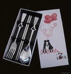 情人节礼品大号勺叉筷三件套