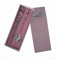陶瓷餐具勺筷两件套