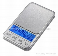 Digital Pocket Scale with big LCD,double modes display
