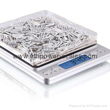 Popular Selling Electronic Pocket Scale, 100g/0.01g, 200g/0.01g, 500g/0.1g 1