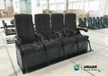 Various Complicated Special Effect 4D Cinema System With 4 Seats / 6 Seats