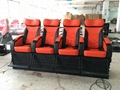 Motion Chair 4D Movie Theater With Special Systerm And Metal Screen