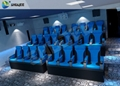 11D Movie Theater 11D Roller Coaster Simulator With Luxury Genuine Leather Seats