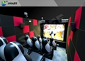 Amusement Park 5D Small Cinema Genuine Leather  Chairs Theater Mobile Cinema