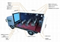 Motion 8D Mobile Cinema System 8D Simulato Equipment Genuine Leather And Fibergl