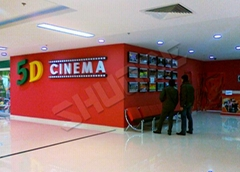 5D Movie Theater Projectors, Screen System, Roller Coaster Motion chair