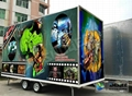 New 5D Movie Theater , 5D Simulator , Dynamic 6 Seats Mobile Truck Manufacturer