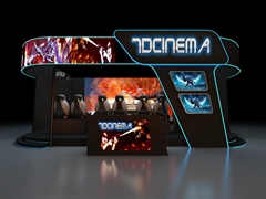 Interactive Cinema 7D Movie Theater In Amusement Park With Interactive Movies