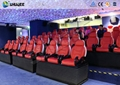 Large Screen 5D Movie Theater , Black And White Color Seats For Amusement park