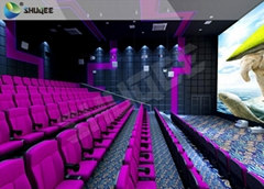 Electric 4D Chair , 4D Cinema System Witjh Wind, Lightning, Laser, Fog Effect