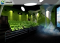 Motion Chair Of 4D Cinema Equipment With Safe Package , Many Color Seats For Cho