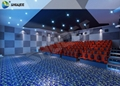 Commercial 4D Movie Theater With Safety Belt,Seats Have Movement , Vibration Eff