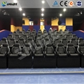 Black Motion 5D Theater System , Luxury Electric 3DOF 5D Seats With Genuine Leat