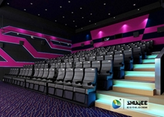 One Year Warranty Of 4D Cinema System , Cinema Chair With The Ability Of Movemen