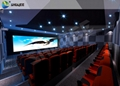 Dynamic Cinema 4d Theater Seats , Flat / Arc / Circular Screen 4 D Theater