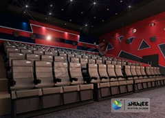 Black 4D Movie Theater Chair Play 3D Films, 4D seats With Sweep Leg And Push Bac (Hot Product - 1*)