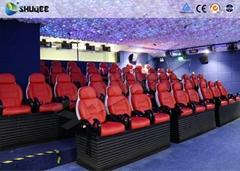 Customized Color 5D Theater System Seats Used For Center Park And Museum