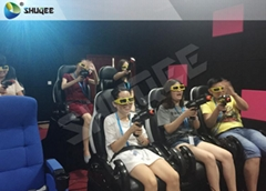 Exciting 7D Cinema System With 6 Chairs Simulating Special Effects And Playing G