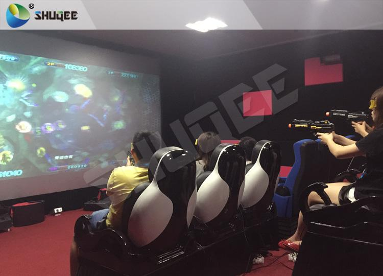 Exciting 7D Cinema System With 6 Chairs Simulating Special Effects And Playing G 2