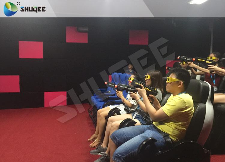 Exciting 7D Cinema System With 6 Chairs Simulating Special Effects And Playing G 3