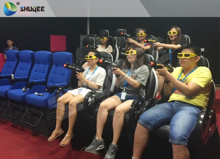 Exciting 7D Cinema System With 6 Chairs Simulating Special Effects And Playing G 4