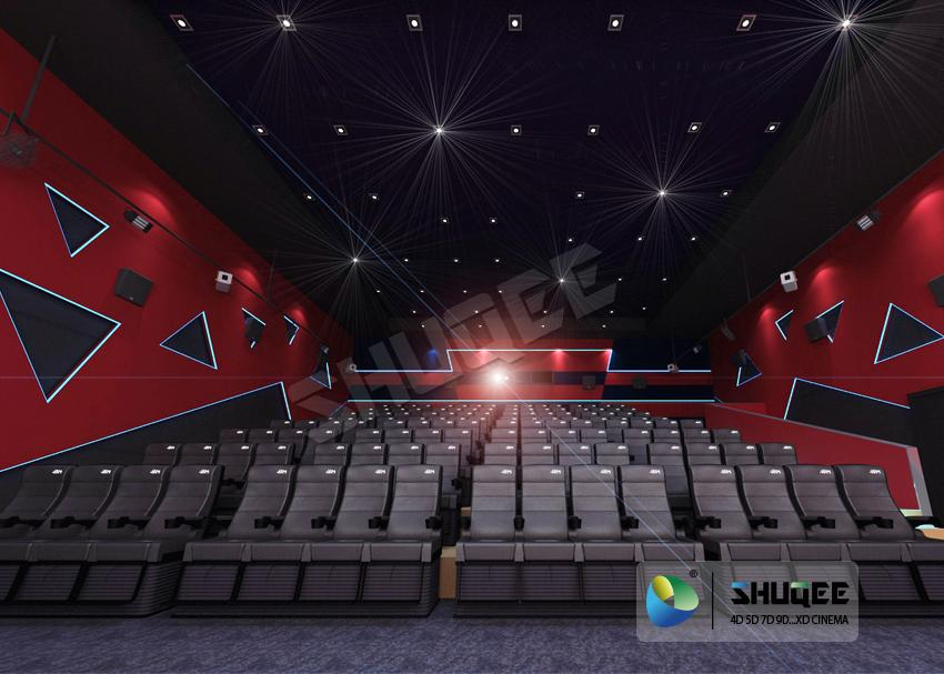 Electric 4D Cinema Seats For Commercial Theater With Several Special Effect And  2