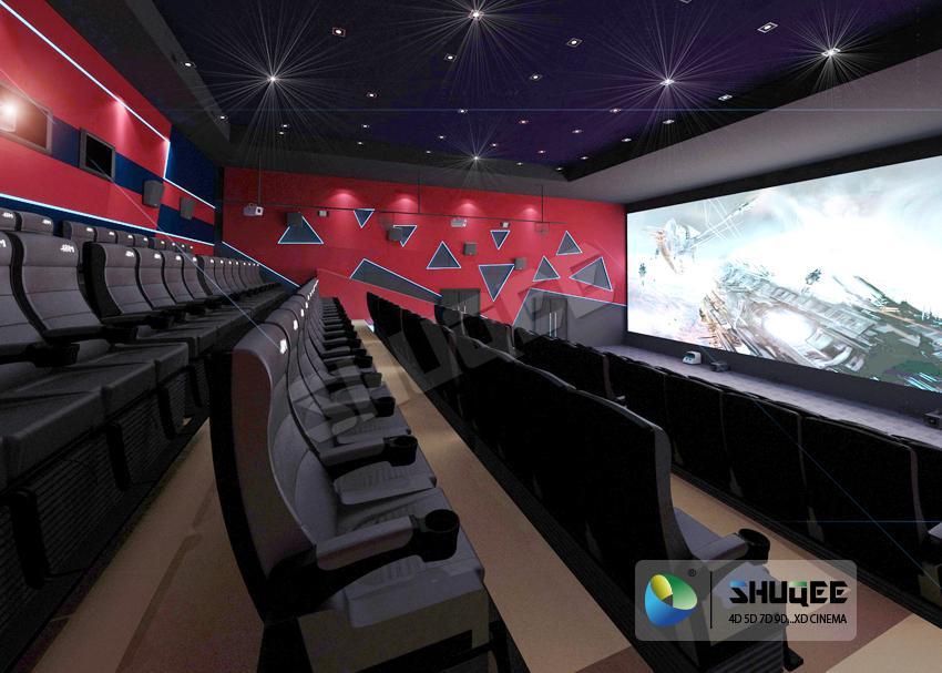 Electric 4D Cinema Seats For Commercial Theater With Several Special Effect And  1