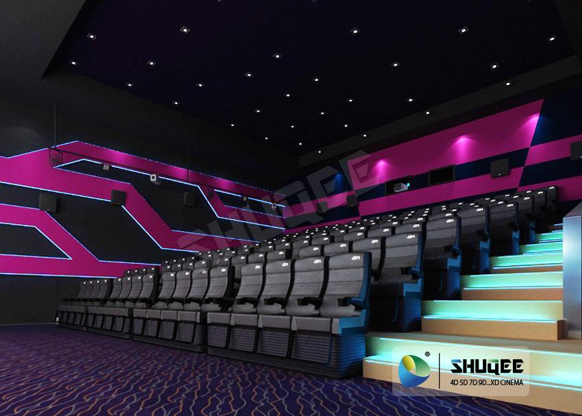 Electric 4D Cinema Seats For Commercial Theater With Several Special Effect And  3