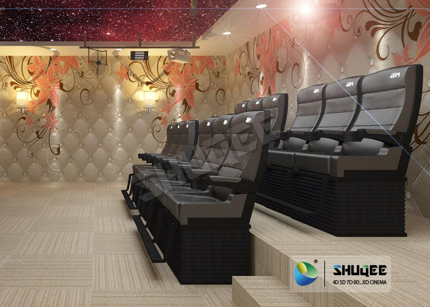 2 Dof Seats 4D Cinema Equipment Chair Used For Update 3D Cinema And Rise The Box 1