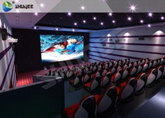 220V Of 5D Cinema Equipment , Luxury 5D Mobile Seats With Professional Design