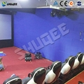 Shooting Game 7D Movie Theater With Fastest And Smooth Seat Action , Motion Cine