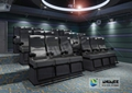Electronic System 4D Movie Theater Seats Equipped With 7.1 Audio System