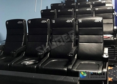 Electrical 4D Movie Theater Equipment For Action Movies 4 seats - 100