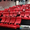 Black 4D Movie Theater Chair Play 3D Films, 4D seats With Sweep Leg And Push Bac 1