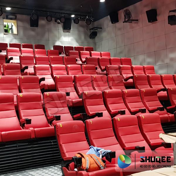 Black 4D Movie Theater Chair Play 3D Films, 4D seats With Sweep Leg And Push Bac 5