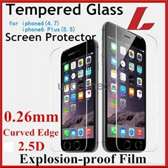 Wholesale Tempered Glass Screen Protector iPhone 6 6s plus 4S 5S Protective Film