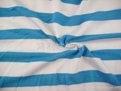 庫存26S全棉精梳平紋間條布