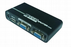 高清VGA SPLITTER VGA分配器VGA350mhz