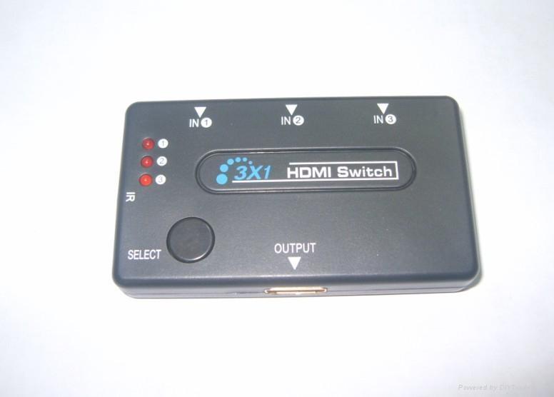 3*1 HDMI 切换器(带遥控)塑壳  2