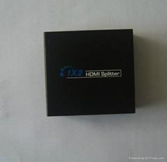 2 port mini hdmi splitter 1080P--Metal