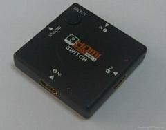 廠家直銷3進1出迷你HDMI切換器,HDMI選擇器