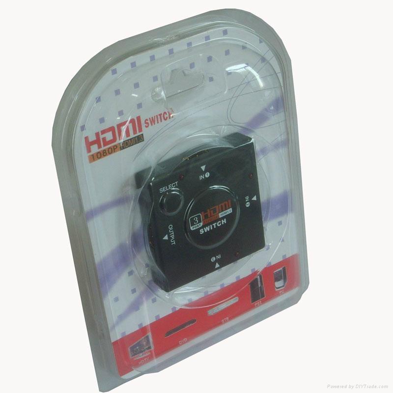 3 Port mini HDMI Switcher 1080p 2