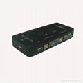 厂家直销4口USB KVM 切换器手动(塑壳)