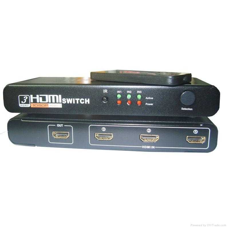 3x1 HDMI Switch with Remote 4